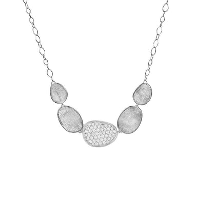 18K Gold & Diamond Pave Graduated Necklace