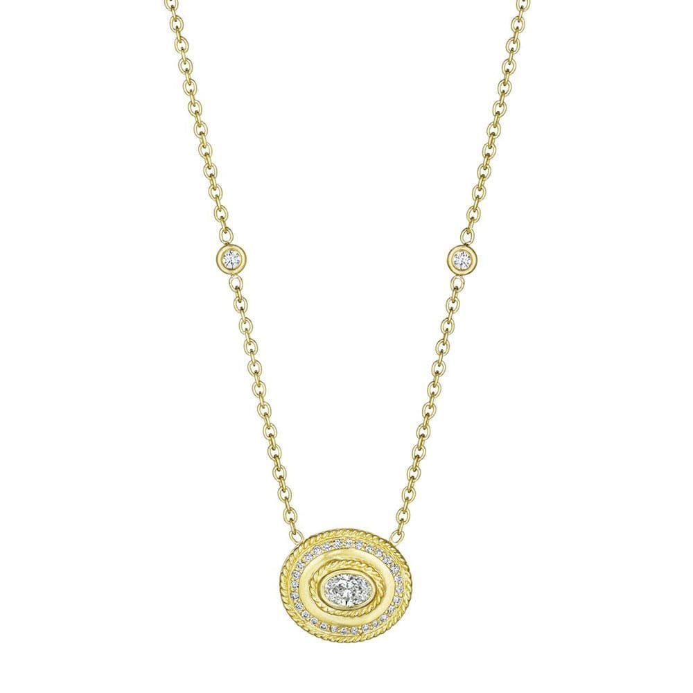 OVAL AMULET DIAMOND NECKLACE