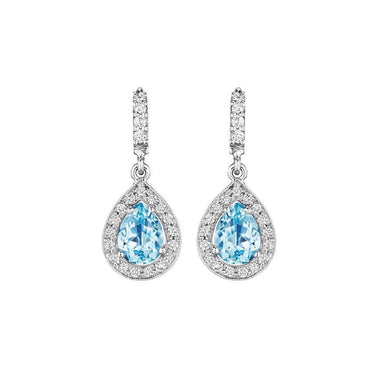 PEAR SHAPE AQUAMARINE EARRINGS