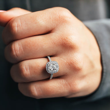 Cushion Double Halo Diamond Ring