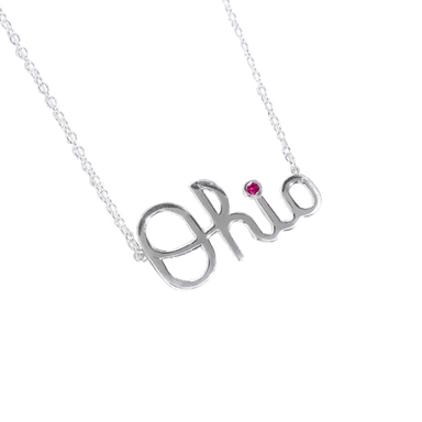 OSU Script Ohio Necklace