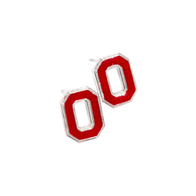 "OSU Block ""O"" Stud Earrings"