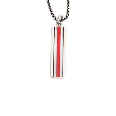 OSU Helmet Vertical Bar Necklace