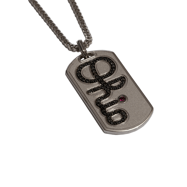 OSU Black Diamond & Ruby Script Ohio Dog Tag