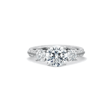 New Aire Three Stone Platinum Setting