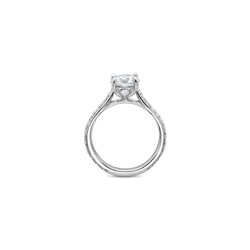 New Aire Side Stones Platinum Setting