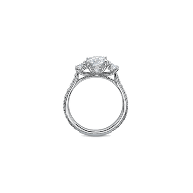 New Aire Three Stone White Gold Setting