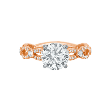 Extraordinary Twist Diamond Semi Mount Ring