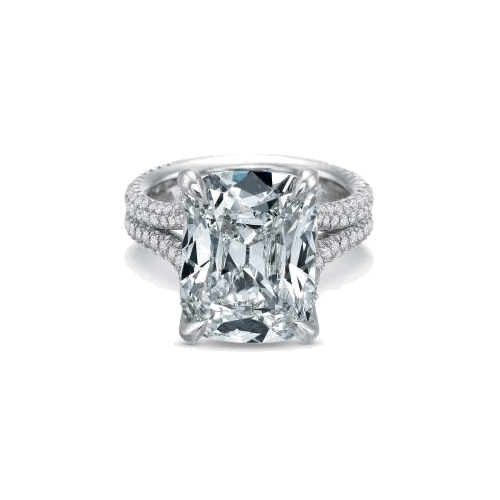 Extraordinary Side Stones Platinum Setting