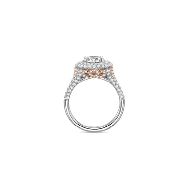 Extraordinary Halo Rose Gold Setting