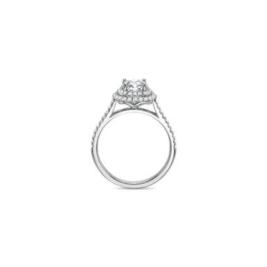 New Aire Halo White Gold Setting