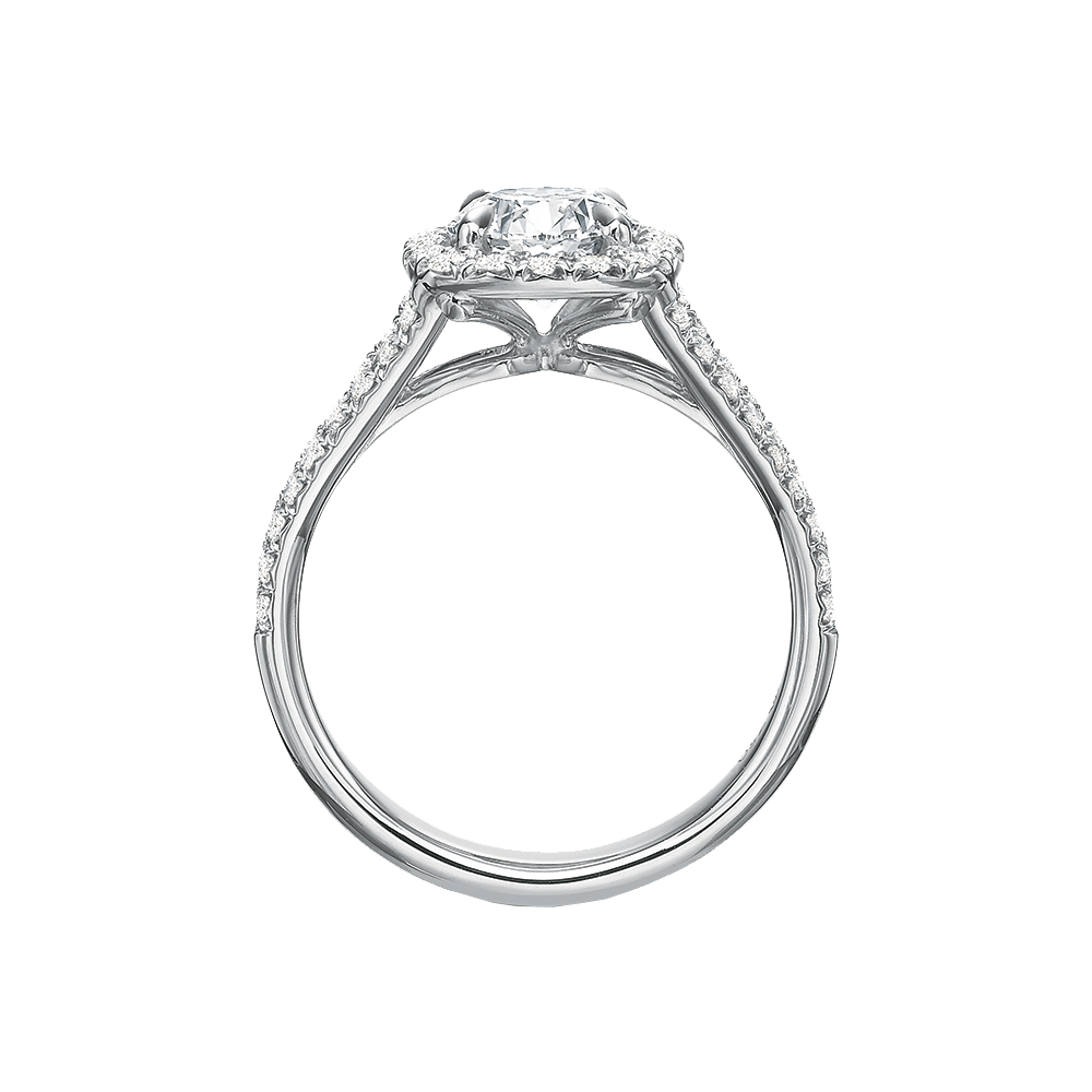 Elege Diamond Halo Ring