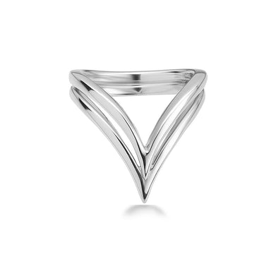 "Sterling Silver Double ""V"" Ring"
