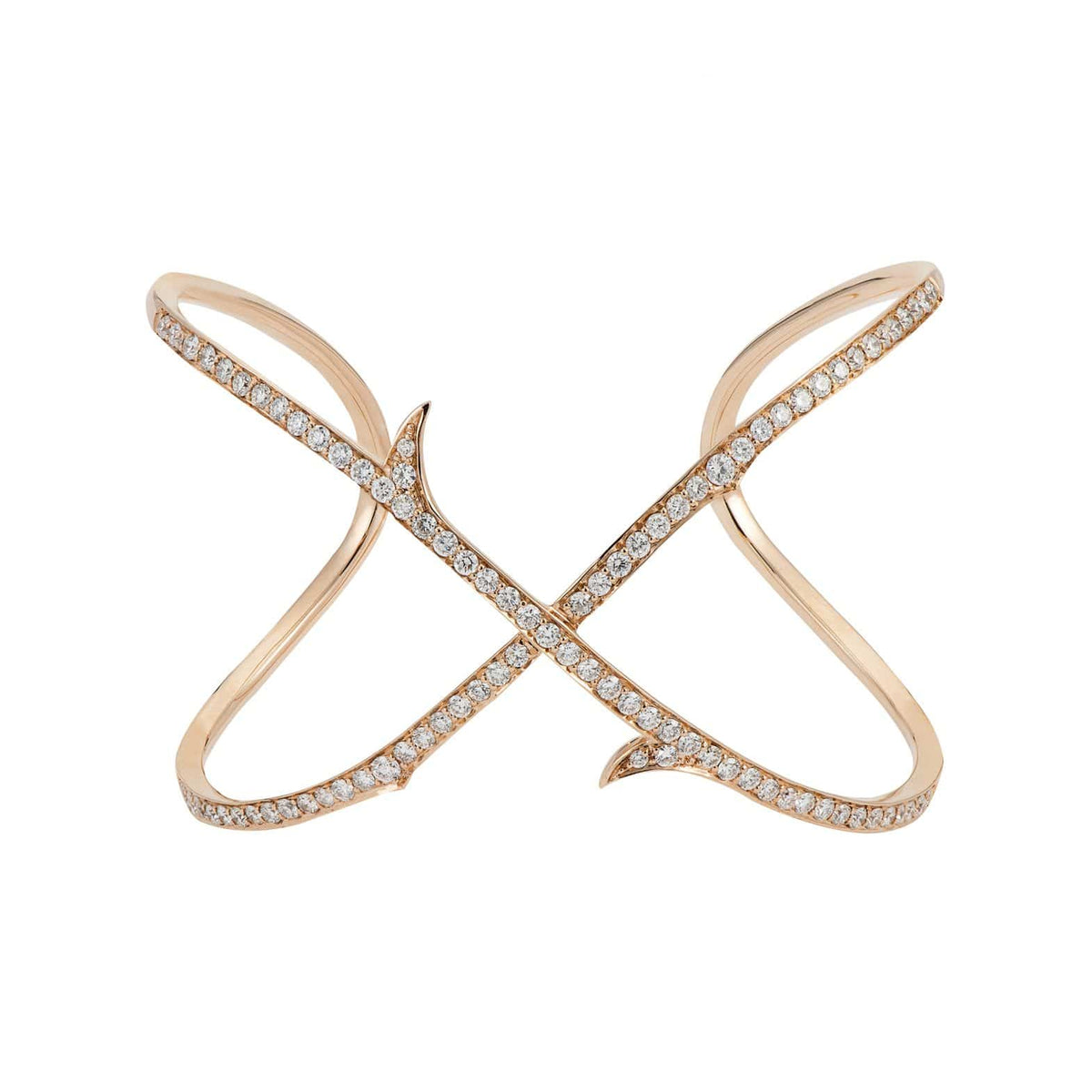 THORN STEM CROSSOVER CUFF Rose Gold