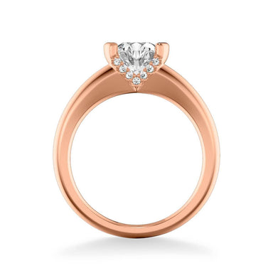 Rachel Contemporary Solitaire Bezel Diamond Engagement Ring