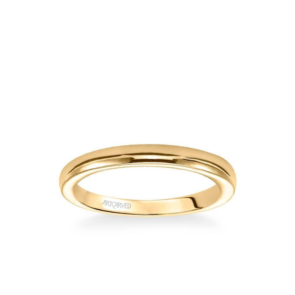 Rachel Contemporary Polished Wedding Band