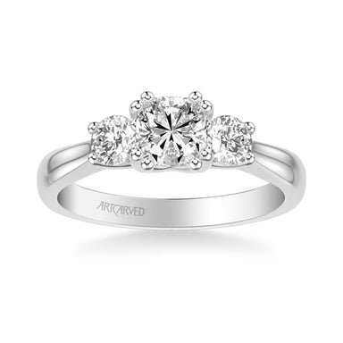 Amanda Classic Three Stone Diamond Engagement Ring