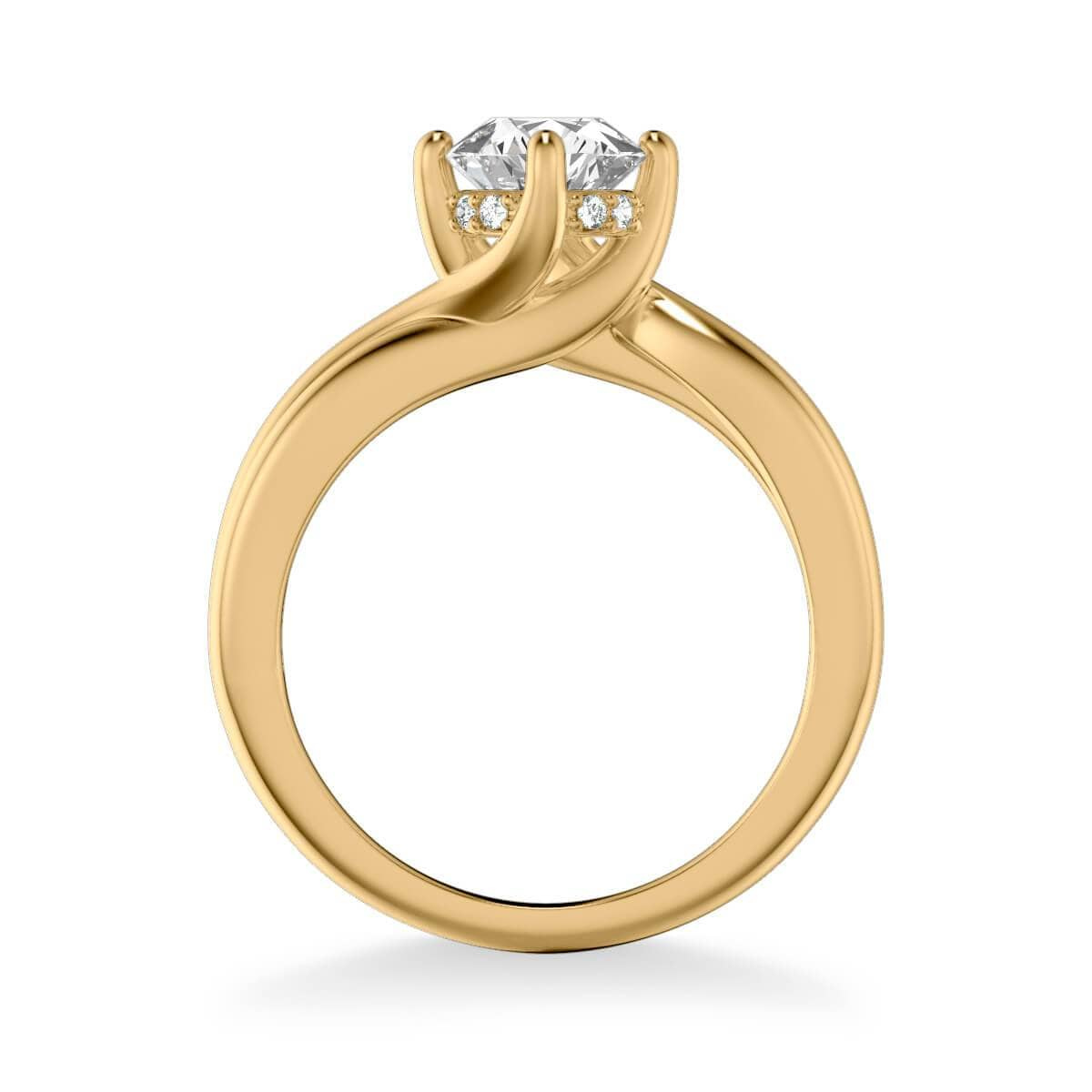 Whitney Contemporary Solitaire Twist Diamond Engagement Ring