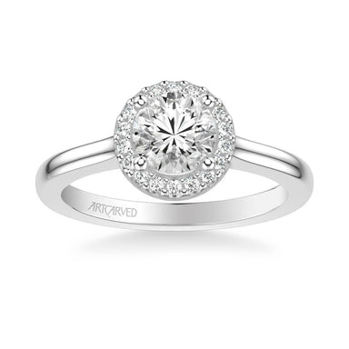 Allison Classic Round Halo Diamond Engagement Ring