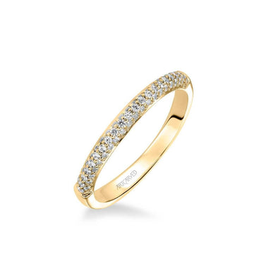 Ariel Classic Diamond Pave Wedding Band