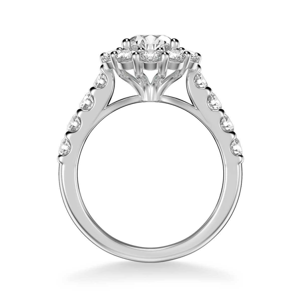 Wynona Classic Round Halo Diamond Engagement Ring