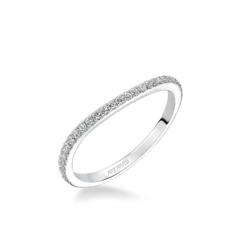 Milena Contemporary Diamond Wedding Band