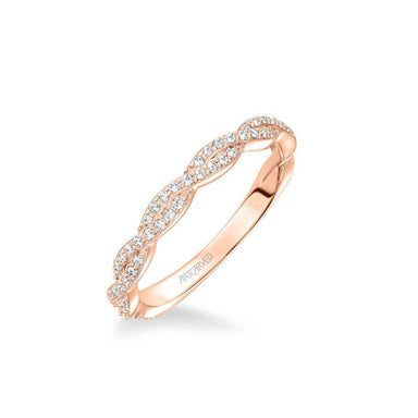 Madeleine Contemporary Diamond Twist Wedding Band