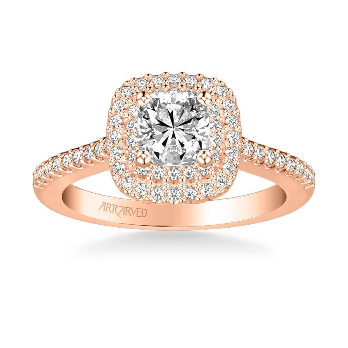 Avril Classic Halo Diamond Engagement Ring