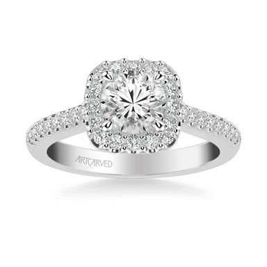 Liv Classic Round Halo Diamond Engagement Ring