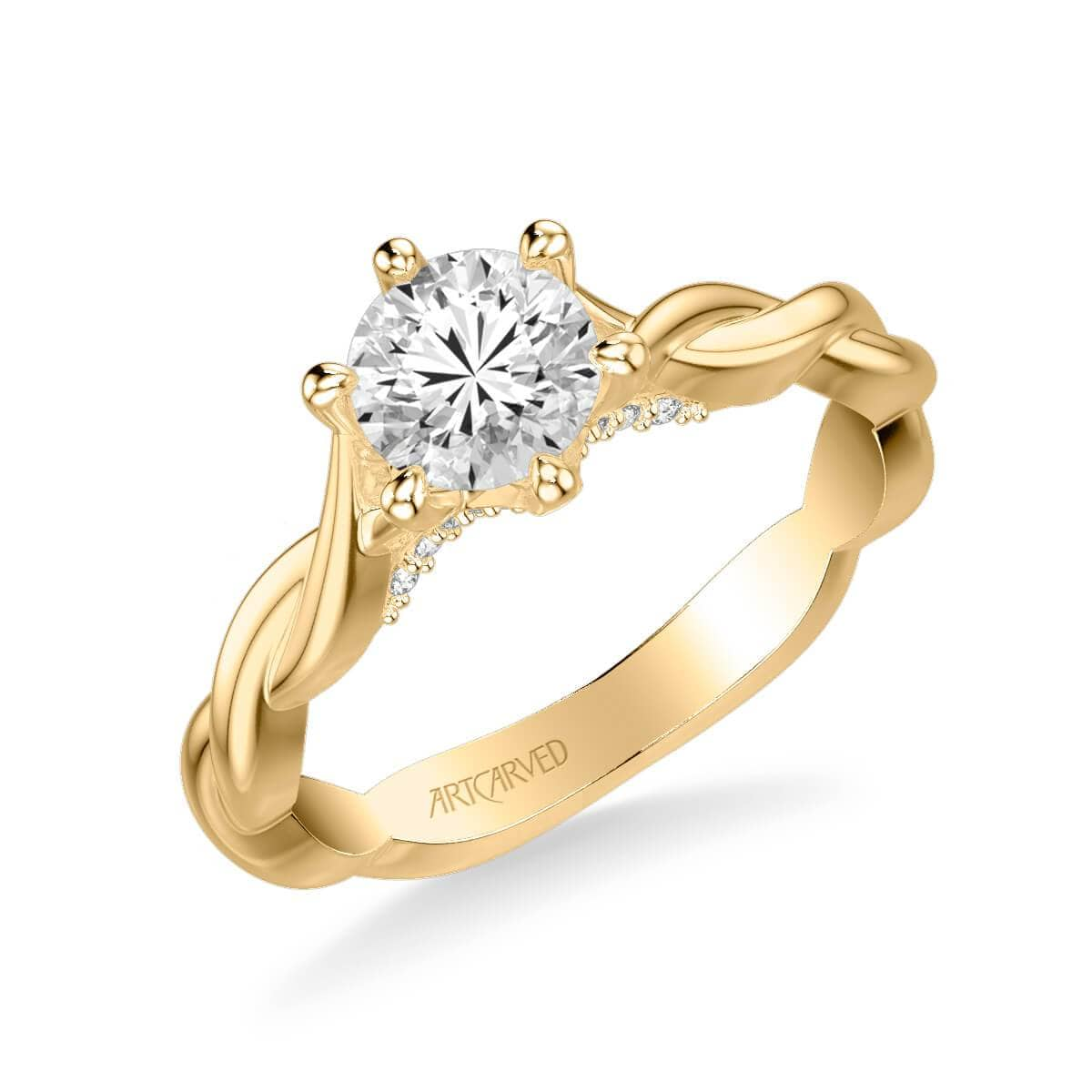 Tala Contemporary Solitaire Twist Diamond Engagement Ring