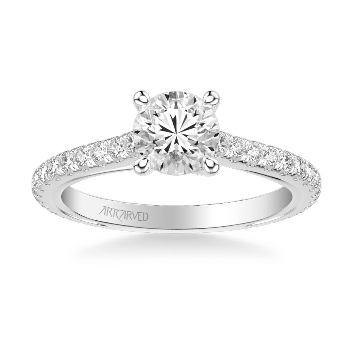 Carmen Contemporary Side Stone Twist Diamond Engagement Ring