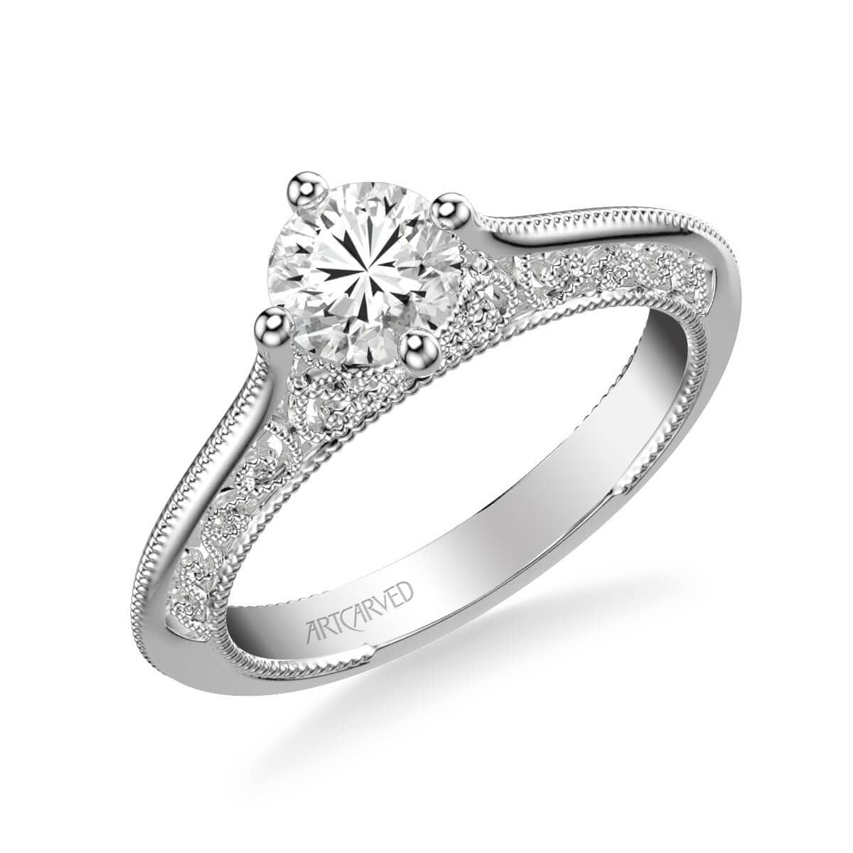 Jessamine Vintage Solitaire Heritage Collection Diamond Engagement Ring