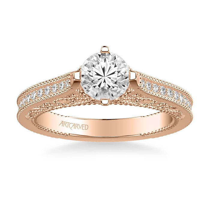 Juliana Vintage Side Stone Heritage Collection Diamond Engagement Ring