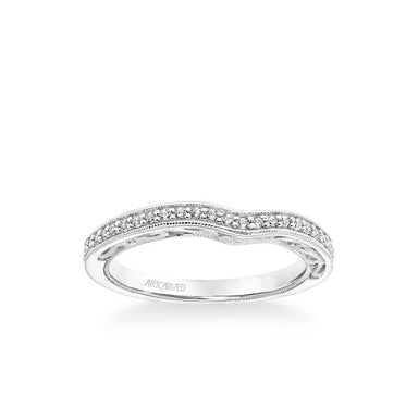 Gayla Vintage Heritage Collection Diamond and Milgrain Filigree Scrollwork Wedding Band
