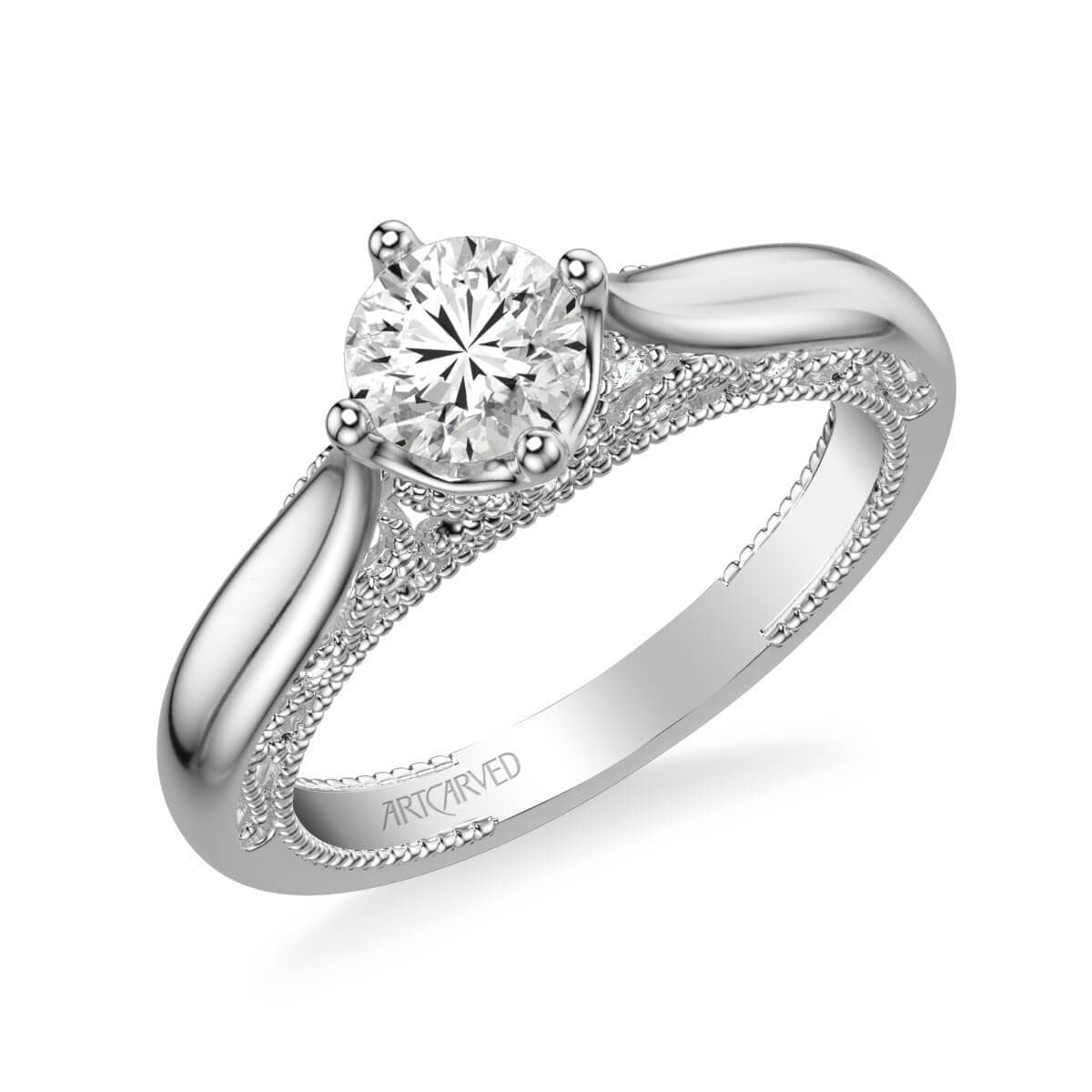 Gayla Vintage Solitaire Heritage Collection Diamond Engagement Ring