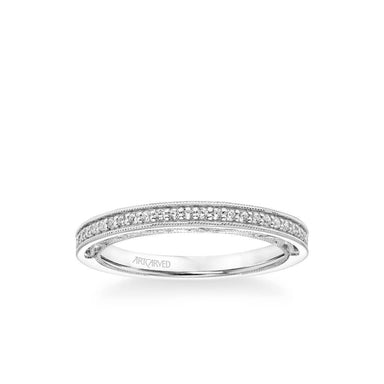Blanche Vintage Heritage Collection Diamond and Milgrain Filigree Scrollwork Wedding Band