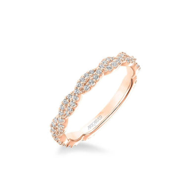 Gianna Contemporary Diamond Twist Wedding Band