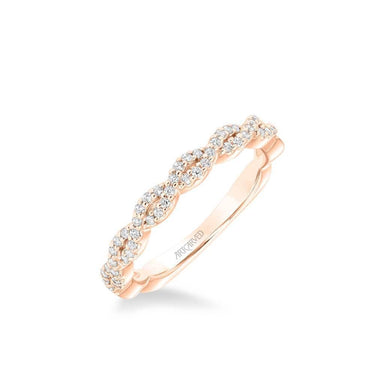 Cherie Contemporary Diamond Twist Wedding Band
