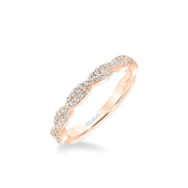 Freesia Contemporary Diamond Twist Wedding Band