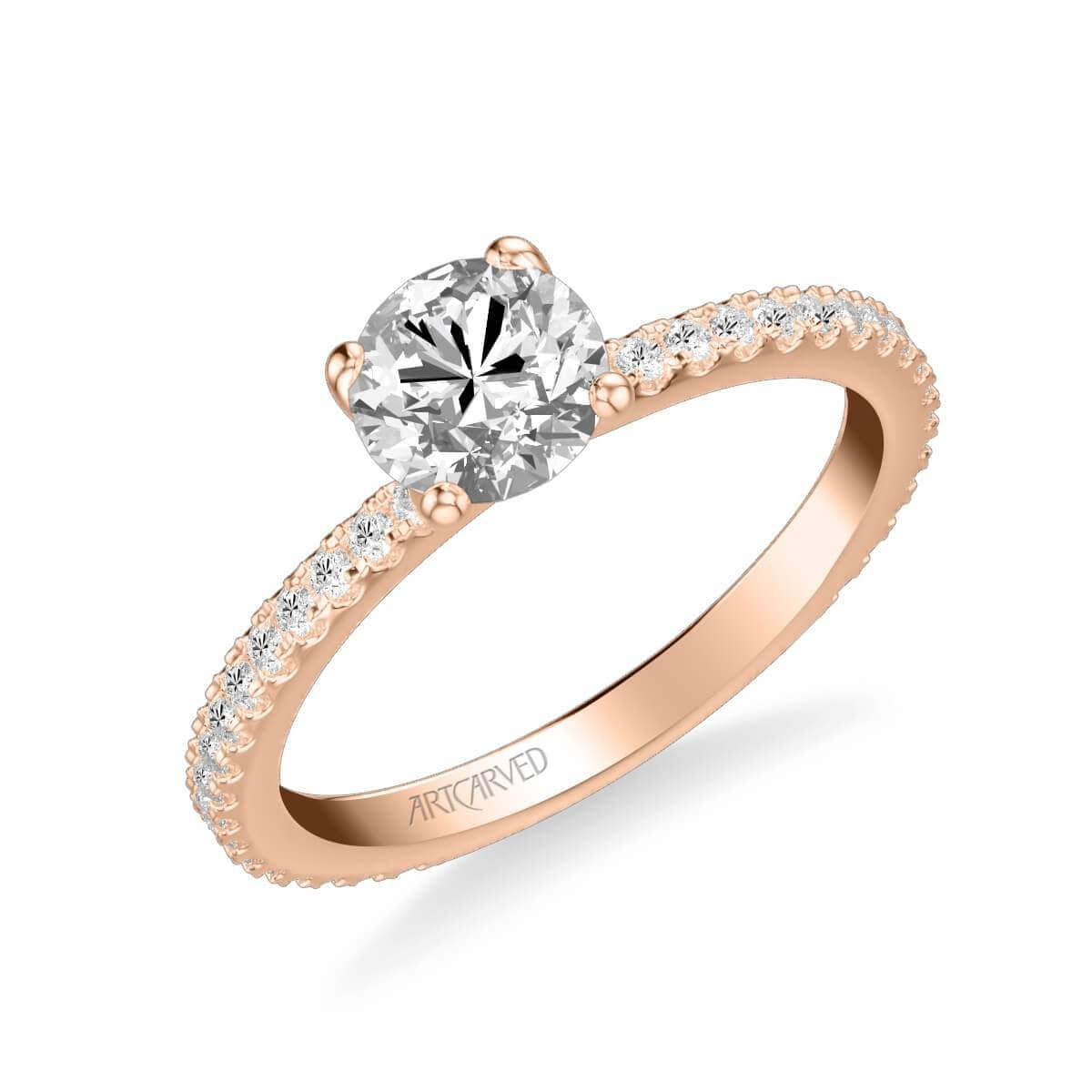 Aubrey Classic Side Stone Diamond Engagement Ring