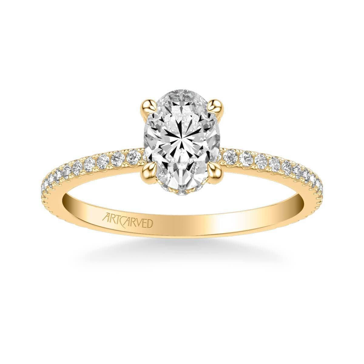 Chelsea Classic Side Stone Diamond Engagement Ring