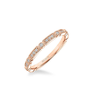 Bessie Vintage Diamond and Milgrain Multi-Shape Wedding Band
