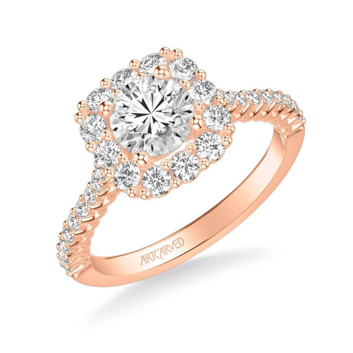 Dolly Classic Cushion Halo Diamond Engagement Ring