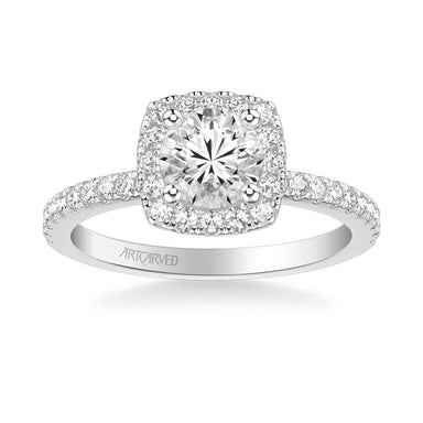 Molly Classic Cushion Halo Diamond Engagement Ring