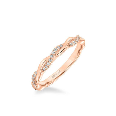 Ciara Contemporary Half Diamond Half Polished Wedding Band