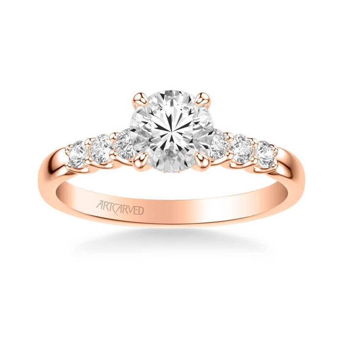 Erica Classic Side Stone Diamond Engagement Ring