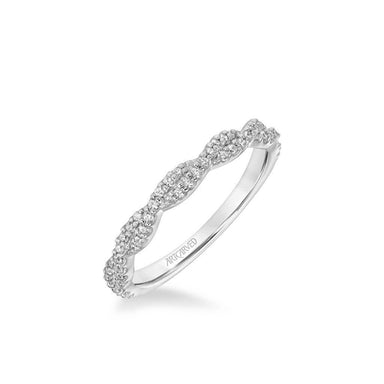 Eileen Contemporary Diamond Twist Wedding Band