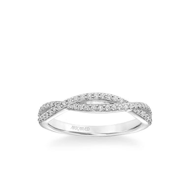 Kendra Contemporary Open Diamond Twist Wedding Band