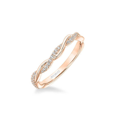 Petaluma Contemporary Half Diamond Half Polished Twist Wedding Band