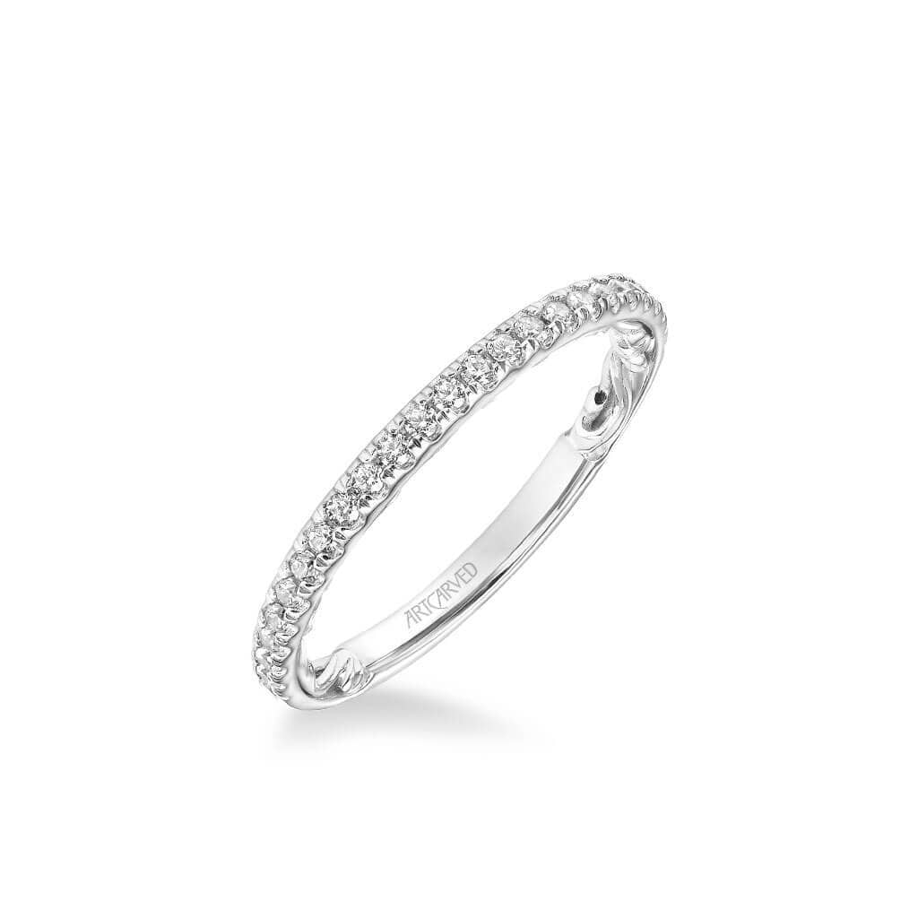 Cora Lyric Collection Classic Diamond Wedding Band